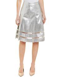 bc307c02ce Gracia Striped Sequin Pencil Skirt - Lyst