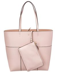 Tory Burch - Block-t Leather Tote - Lyst