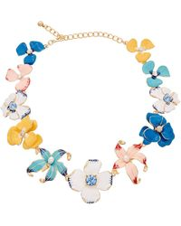Kenneth Jay Lane - 22k Plated Enamel & Resin Necklace - Lyst