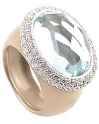 Pomellato - 18k Rose Gold 1.12 Ct. Tw. Diamond & Aquamarine Ring - Lyst