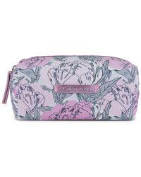 Tahari - Small Top Zip Cosmetics Bag - Lyst