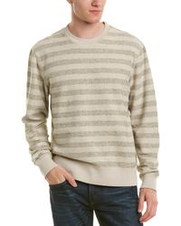 7 For All Mankind - 7 For All Mankind Striped Crew Jumper - Lyst