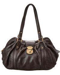 Louis Vuitton - Brown Monogram Mahina Leather Lunar Gm - Lyst