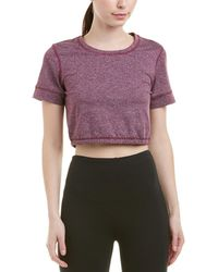 Splendid - Studio Activewear Workout Athletic Short Sleeve Crop Top - Lyst