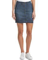 Splendid - Raw Edge Mini Skirt - Lyst