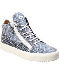 Giuseppe Zanotti - Leather Sneaker - Lyst