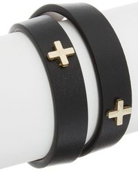 Givenchy - Micro Cross Embossed Leather Choker - Lyst