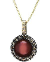 Effy - Fine Jewelry 14k 0.25 Ct. Tw. Diamond & 8mm Pearl Necklace - Lyst
