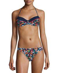 Shoshanna - Floral-print Bikini Top - Lyst