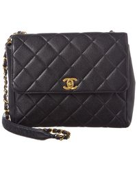 b72cf556e59047 Chanel - Black Quilted Caviar Leather Big Cc Square Camera Bag - Lyst