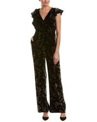 Rebecca Taylor - Jewel Velvet Silk-blend Jumpsuit - Lyst