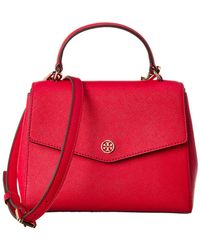 Tory Burch - Robinson Small Top Handle Leather Satchel - Lyst