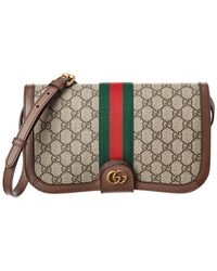 10696a33b428 Gucci - Ophidia GG Supreme Canvas & Leather Messenger Bag - Lyst