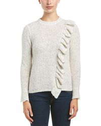 Rebecca Taylor - Ruffle Wool-blend Pullover - Lyst