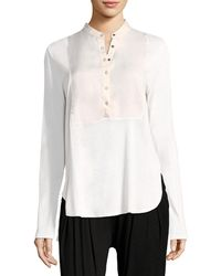 Three Dots - Popover Tunic Top - Lyst