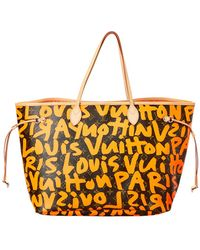 Louis Vuitton - Limited Edition Stephen Sprouse Orange Graffiti Monogram  Canvas Neverfull Gm - Lyst f624dbe7fc1e3