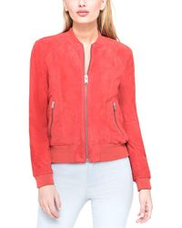 Marc New York - Leigh Suede Bomber Jacket - Lyst