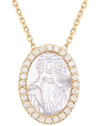 Gabi Rielle - Gold Over Silver Mother-of-pearl & Cz Necklace - Lyst