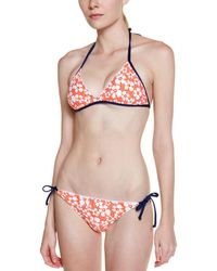 Splendid - Flower Market Orange Multicolour Print Tie Bottom - Lyst