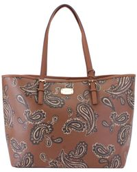 bbd3975eefd9 Michael Kors - Michael Jet Set Travel Large Leather Carry All Tote - Lyst