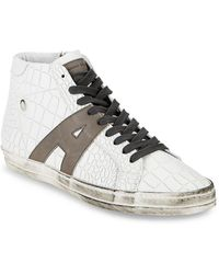 Alessandro Dell'acqua - Alessandro Dell''acqua Textured Leather High-top Sneaker - Lyst