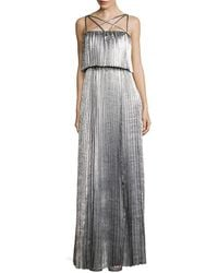 Zac Posen - Ribbed Floor-length Dress - Lyst