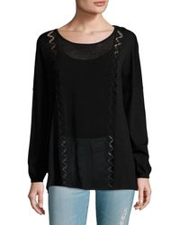Sandro - Mesh Paneled Sweater - Lyst
