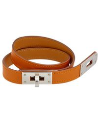 Hermès - Orange Leather Kelly Choker - Lyst