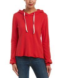 Nation Ltd - Raw-edge Hooded Sweatshirt - Lyst
