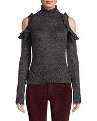 Jill Stuart Metallic Cold-shoulder Jumper - Multicolour