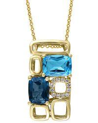 Effy - Fine Jewellery 14k 3.31 Ct. Tw. Diamond & Gemstone Necklace - Lyst