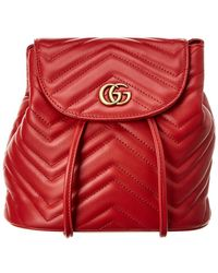 74cc10cd7dc Gucci - GG Marmont Matelasse Leather Backpack - Lyst