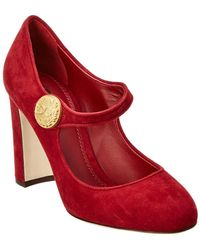 Dolce & Gabbana - Vally Suede Mary Jane Pump - Lyst