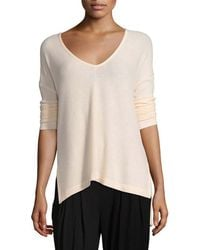 Three Dots - V-neck High-low Top - Lyst