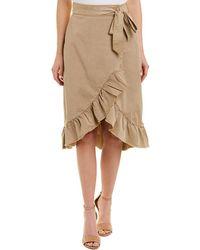 Ella Moss - Canvas Ruffle Skirt - Lyst