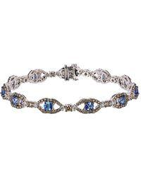 Le Vian - ® Chocolatier® 14k 6.20 Ct. Tw. Diamond & Ceylon Sapphire Bracelet - Lyst