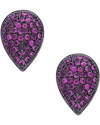 Socheec - Color Stone Jewelry Silver 5.11 Ct. Tw. Gemstone Studs - Lyst