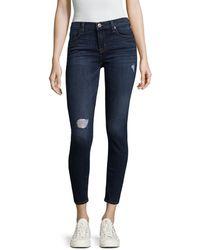 Hudson Jeans - Krista Distressed Skinny Pant - Lyst