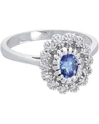 Effy - Fine Jewelry 14k 0.89 Ct. Tw. Diamond & Tanzanite Ring - Lyst