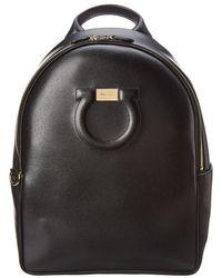 Ferragamo - Gancini Leather Backpack - Lyst