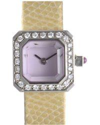 Corum - Women's Leather Diamond Watch - Lyst