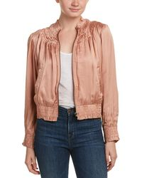 Love Sam - Smocked Silk-embroidered Bomber Jacket - Lyst