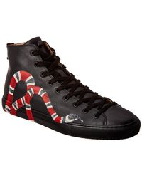 ccfd195ecde7 Lyst - Gucci Leather High-top Sneaker With Zippers in White for Men