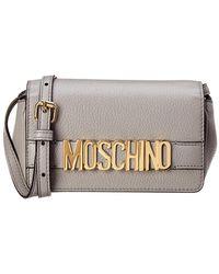 Moschino - Mini Logo Leather Crossbody - Lyst