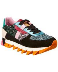 Dolce & Gabbana - Capri Mixed Media Sneaker - Lyst
