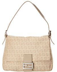 8983532da96 Lyst - Fendi Zucca Mamma Baguette Shoulder Bag - Vintage in Brown