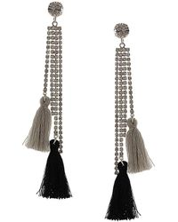 Sparkling Sage - Silver Plated Resin Drop Earrings - Lyst