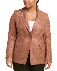 Marina Rinaldi - Plus Cannes Silk, Linen & Wool-blend Blazer - Lyst