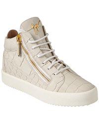 Giuseppe Zanotti - Croc-embossed Leather High-top Sneaker - Lyst