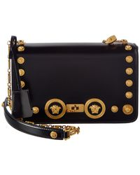 55e0b1bcf7 Versace - Medusa Stud Icon Leather Shoulder Bag - Lyst